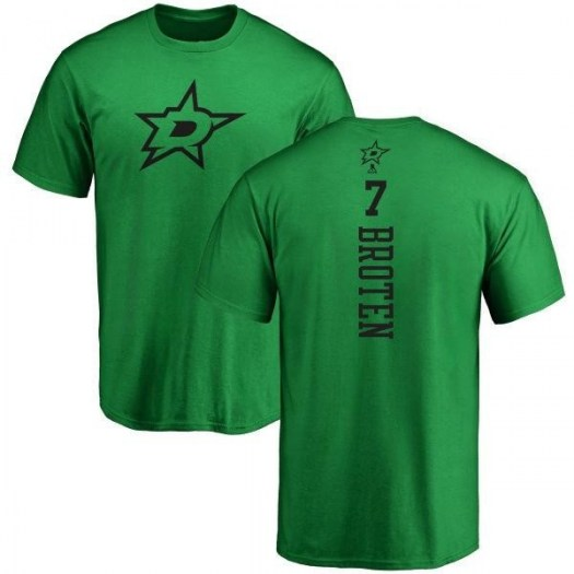 Neal Broten Dallas Stars Men's Green Branded One Color Backer T-Shirt - Kelly